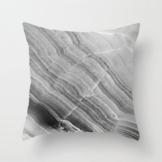 Shades of grey marble Throw Pillow