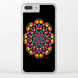 Spirograph Swirls Mandala Clear iPhone Case