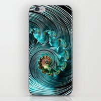 supreme iPhone & iPod Skins featuring Aqua Supreme by Steve Purnell