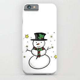 Snowman and the stars iPhone Case