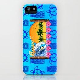 Hawaiian Surfing And Tiki Pattern iPhone Case