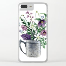 Butterfly Bouquet Clear iPhone Case