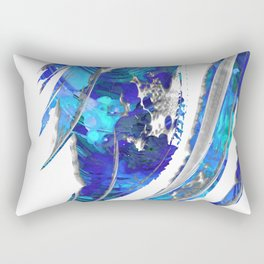 Blue and White Abstract Art - Flowing 2 - Sharon Cummings Rectangular Pillow