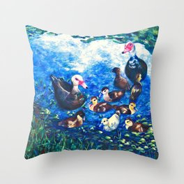 MUSCOVY FAMILY Throw Pillow