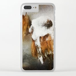 Summers End Clear iPhone Case
