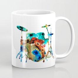The Drums - Music Art By Sharon Cummings Coffee Mug
