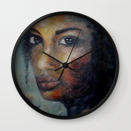Courage by Lu Wall Clock