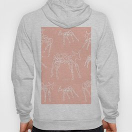 Animals lineart white-nude pattern Hoody