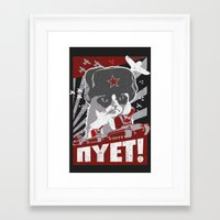 soviet Framed Art Prints featuring grumpy soviet by tshirtsz