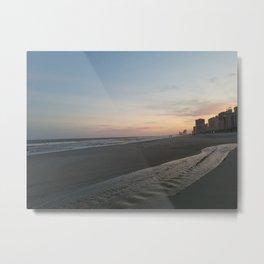 Unique River on the Beach Metal Print