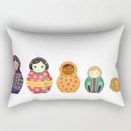 Russian Dolls Rectangular Pillow