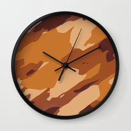 brown and dark brown painting abstract background Wall Clock
