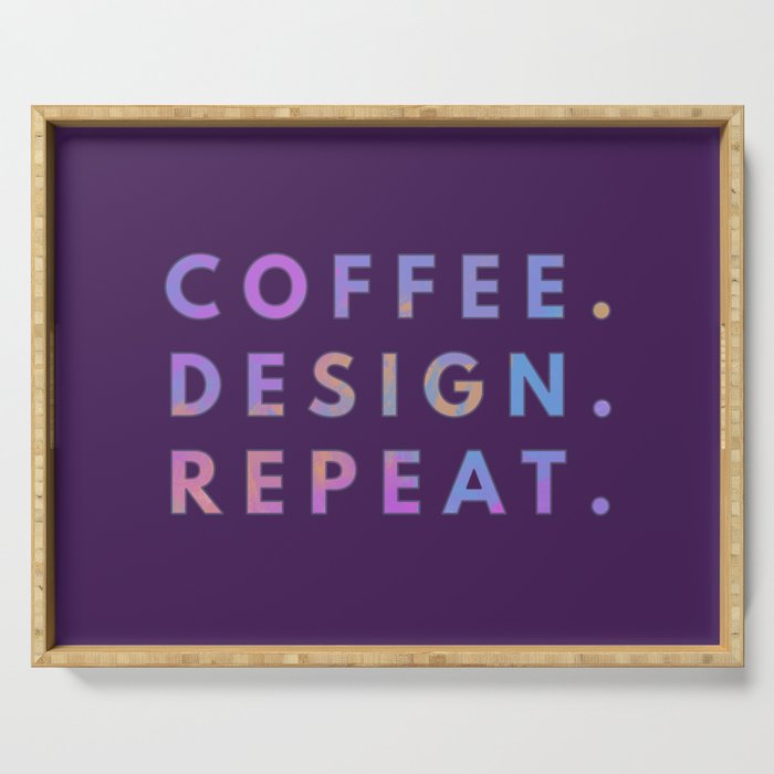 Coffee Design Repeat Serving Tray