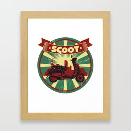 Scooter Propaganda | Scoot Cruise Italy Framed Art Print