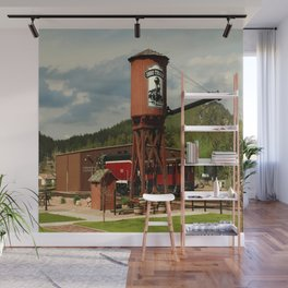 Water Tower Of The Black Hills Central Railroad Wall Mural