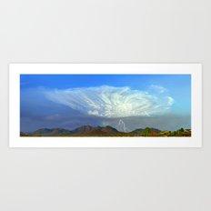 Monsoon Sky Panorama Art Print
