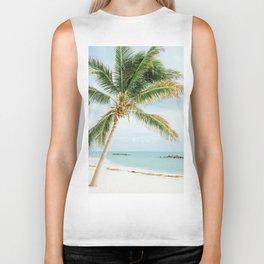 Tropical Palm Tree Biker Tank