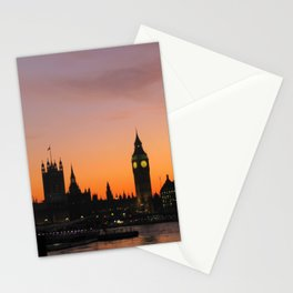 The Sun Sets on England Stationery Cards