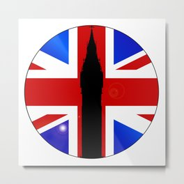 Union Jack Button Metal Print
