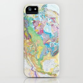 USGS Geological Map of North America iPhone Case