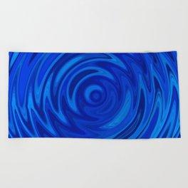 Water Moon Cobalt Swirl Beach Towel