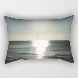 Shortly after sunrise near Nessebar beach, Bulgaria, the Black Sea Rectangular Pillow