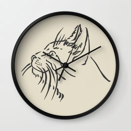 Wishful Whiskers Cat Wall Clock