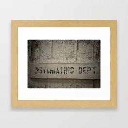 Psychiatric Department Framed Art Print