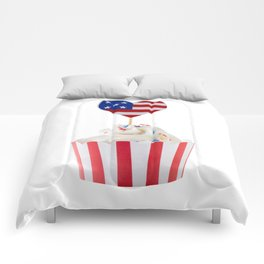 Independence day cupcake Comforters
