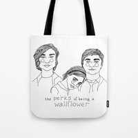 the perks of being a wallflower Tote Bags featuring The Perks of Being a Wallflower by ☿ cactei ☿