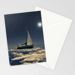 Navigating Trough Clouds Dreamy Collage Photography Stationery Cards