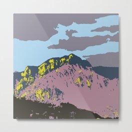 POP MOUNTAINS #001 BY CAMA ART Metal Print