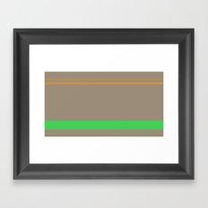 Taupe Framed Art Print
