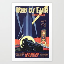 World's Fair Chicago 1933 Vintage Poster Art Print