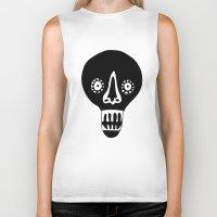 skulls Biker Tanks featuring Skulls by KatrinDesign