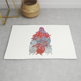 Lumps (Blue & Red) Rug