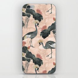 lotus and cranes iPhone Skin