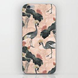 lotus and cranes iPhone Skin