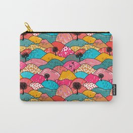 Funky Hills Pattern by Katrina Ward Carry-All Pouch