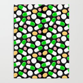 Deadly Pills Pattern Poster