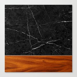 Marble and Wood Canvas Print
