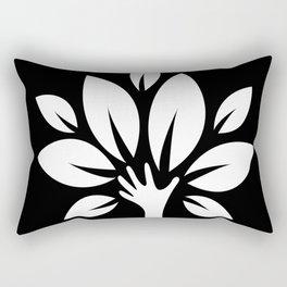 The Nurturing Hand Rectangular Pillow