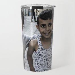 We teach life, sir. Palestinian refugee kids. Travel Mug