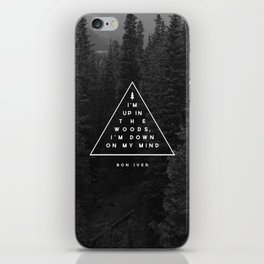 Woods -- Bon Iver iPhone Skin