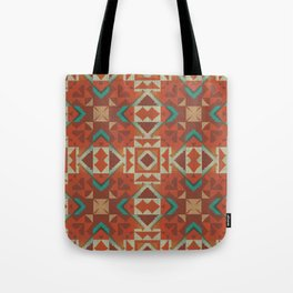 Native American Indian Tribal Mosaic Rustic Cabin Pattern Tote Bag