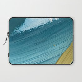 Paradise: a vibrant, minimal, abstract mixed media piece Laptop Sleeve