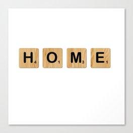 Scrabble - Home Canvas Print