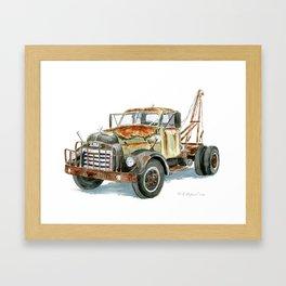 Old GMC Wrecker Framed Art Print