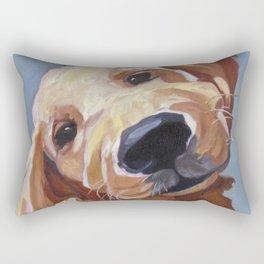 Golden Retriever Puppy Original Oil Painting Rectangular Pillow