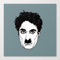 chaplin Canvas Prints featuring Chaplin by El Kane